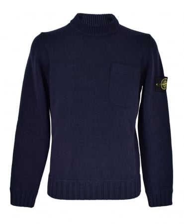 Navy Crew Neck 527A3 Jumper