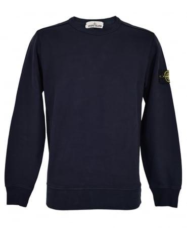 Stone Island Navy Crew Neck 62720 Sweatshirt