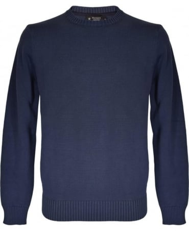 Hackett Navy Crew Neck HM701752 Jumper