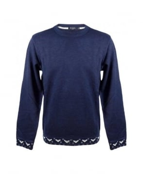 Paul Smith  Navy Crew Neck Sweatshirt
