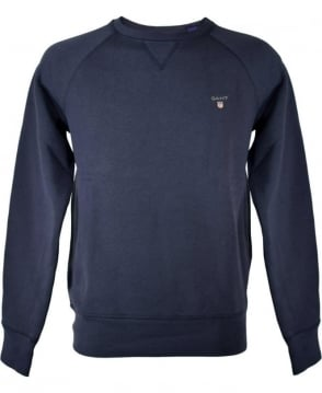 Gant Navy Crew Neck Sweatshirt