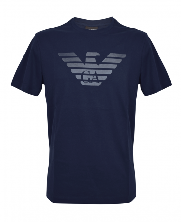 Navy Crew Neck T-Shirt With Logo