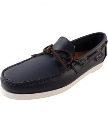 Hackett Navy Deckshoe Bow