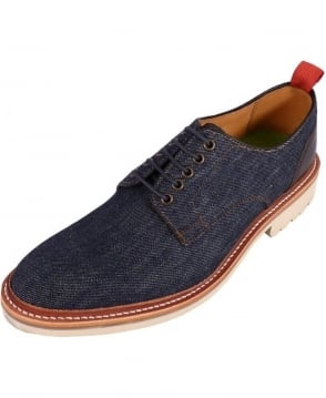 Oliver Sweeney Navy Denim Hepworth Derby Shoe