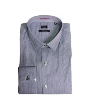 Paul Smith - London Navy Dogtooth Gents Formal Shirt