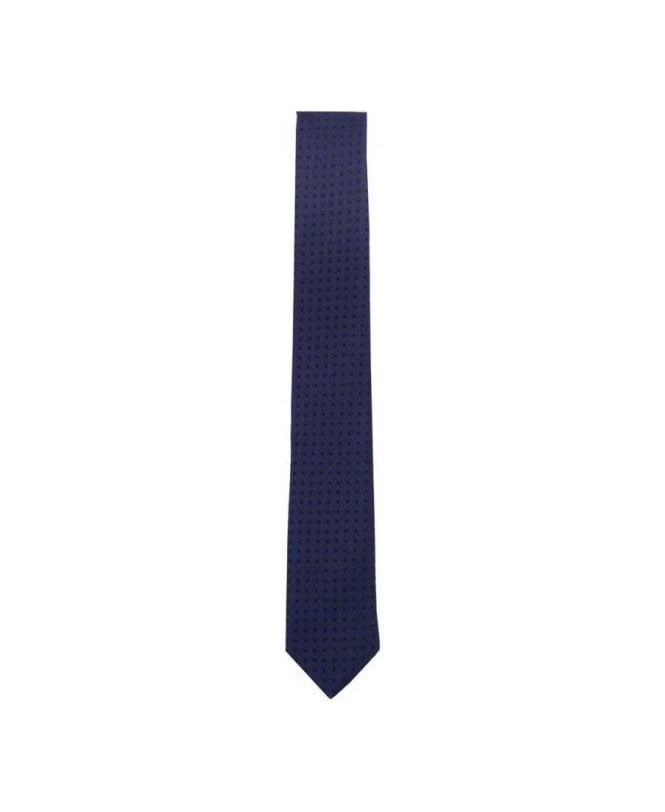 Hugo Boss Navy Dot 6cm tie