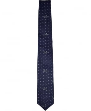 PS By Paul Smith Navy Dot and Bicycle Tie