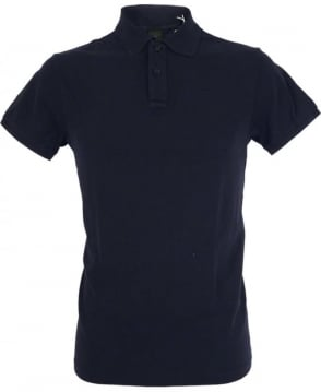 Scotch & Soda Navy Dyed Logo Polo Shirt