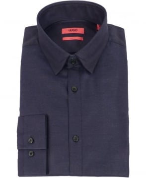 Hugo Navy Eggelton Slim Fit Shirt