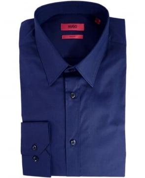 Hugo Navy Elisha 50237804 Slim Fit Shirt