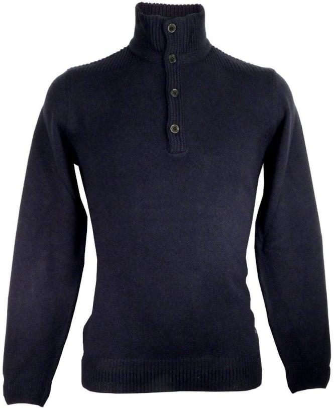 Hugo Boss Navy Elizando 50298767 Four Button Knitwear