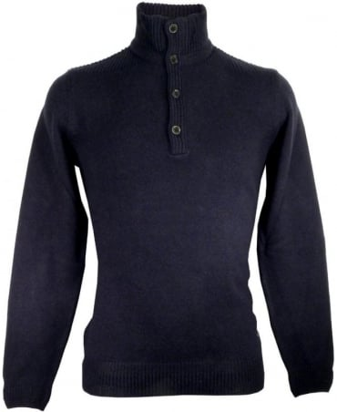 Hugo Boss Navy Elizando 50298767 Four Button Knitwear