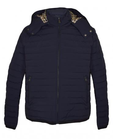 Aquascutum Navy Emmett Quilted Jacket