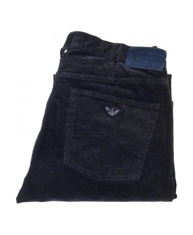Armani Jeans Navy Fine Cord J31 Jeans