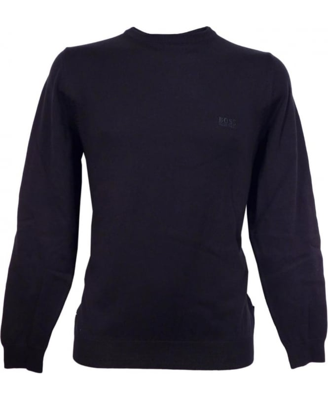 Hugo Boss Navy 'Finello' 50302547 Crew Neck Knit
