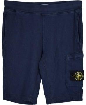 Stone Island Navy Fleece Shorts