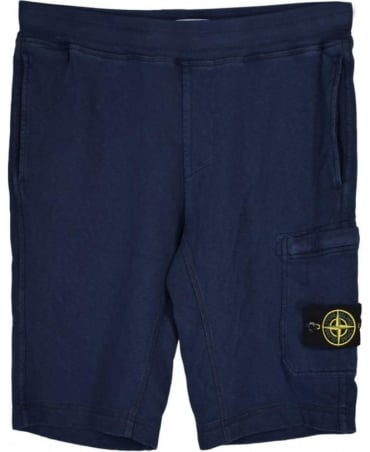 Stone Island Navy Fleece Shorts