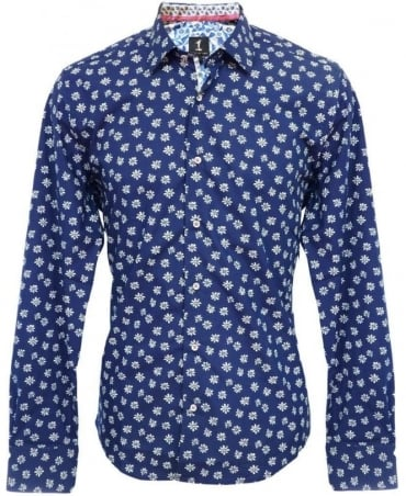 1 ...Like No Other Navy Floral 2530S Shirt