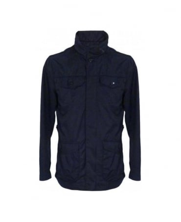 Navy Fold Away Hood Blouson