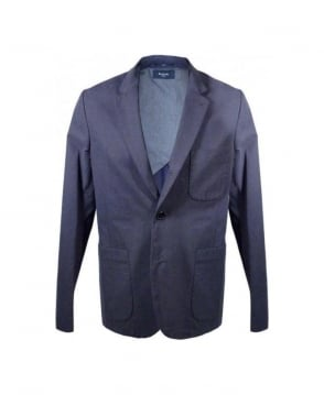 Paul Smith - Jeans Navy Full Button Rever Jacket