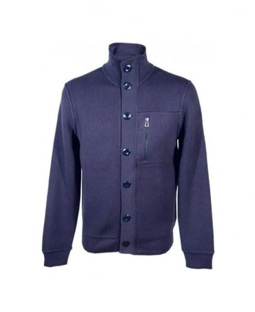 Hugo Boss Navy Full Zip Knitwear