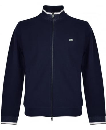 Lacoste Navy Full Zip Sweatshirt