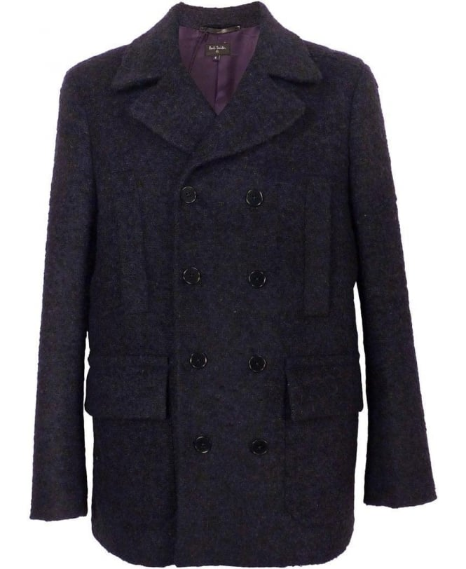 Paul Smith Navy Gents Car Double Breasted Coat