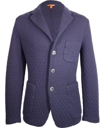 Barena Navy Giacca Torceo Rombo Hand Made Jacket