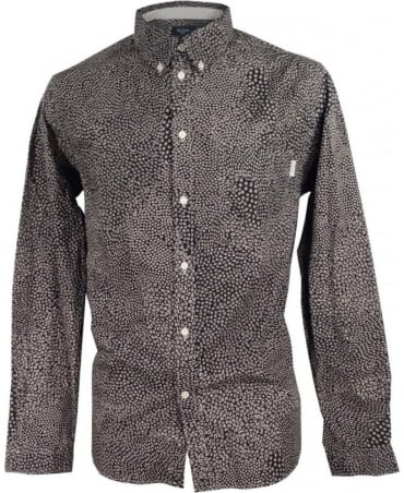 Paul Smith - Jeans Navy & Grey JNFJ-265P-B31 Mixed Polka Tailored Shirt