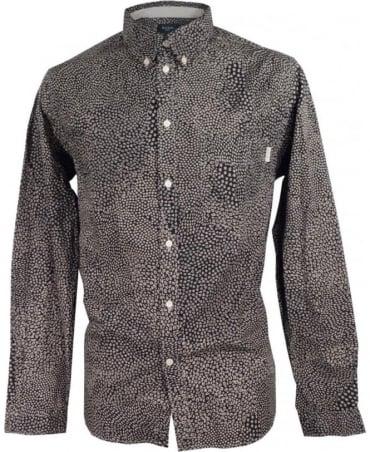 Paul Smith - Jeans Navy & Grey JNFJ-265P-B31 Mixed Polka Tailored Shirt