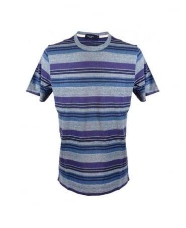 Paul Smith - Jeans Navy/Grey/Purple Stripe SS T-Shirt