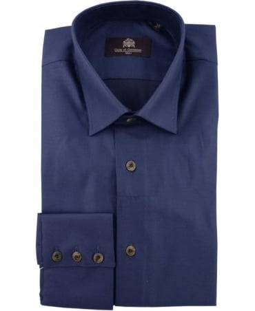 Circle of Gentlemen Navy Griswold Micro Dot Shirt