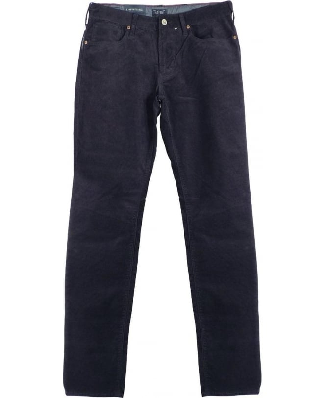 Armani Jeans Navy J06 Slim Fit Fine Cords