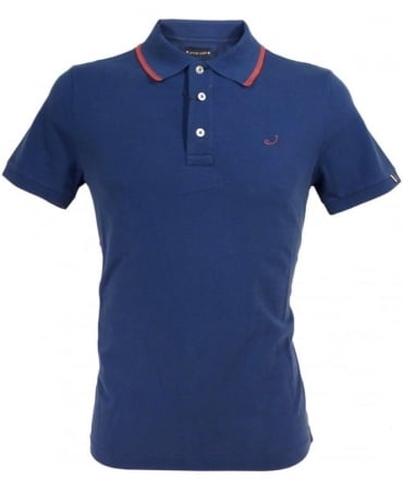 Navy J492 Red Trim Polo