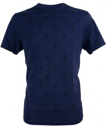 Paul Smith - Jeans Navy JNFJ-170P-B52 Star Print Contrast Hem T-shirt
