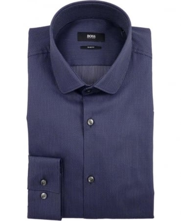 Hugo Boss Navy Joshua 50310517 Polka Dot Shirt