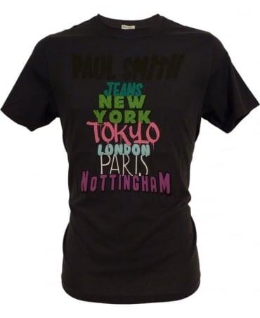 Paul Smith - Jeans Navy JPFJ-5501-P9690 Cities Print T-shirt