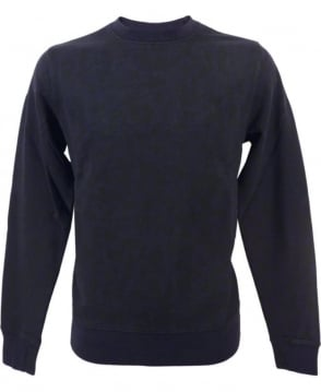 Paul Smith  Navy JPFJ-597P-D55 Allover Print Sweatshirt