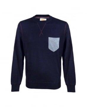 Hugo Boss Navy Kebbe Chest Pocket Sweatshirt