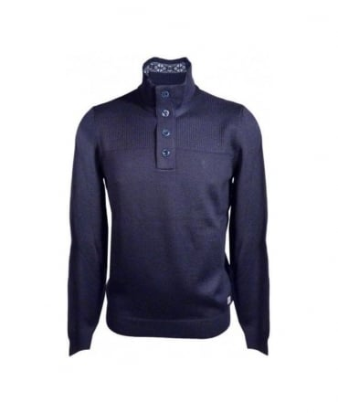 Hugo Boss Navy Lancelot Knit Jumper