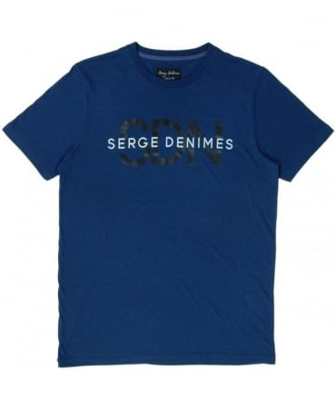 Serge DeNimes Navy Layer Crew Neck T-shirt