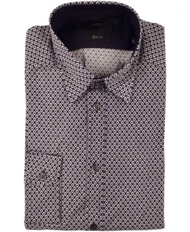 Diesel Navy Leppard Allover Print Shirt