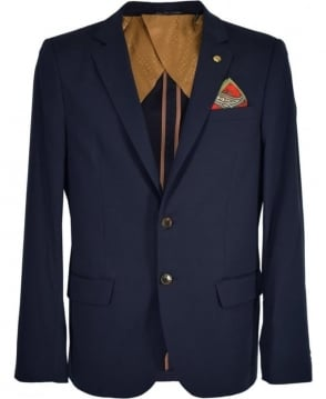 Scotch & Soda Navy Lightweight Cotton Jacket