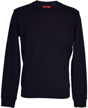 Hugo Navy Logo Chest Sweatshirt