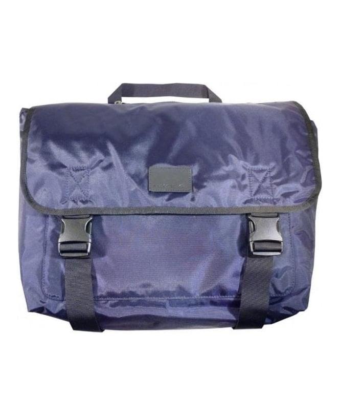 Lacoste Navy Logo Messenger Bag