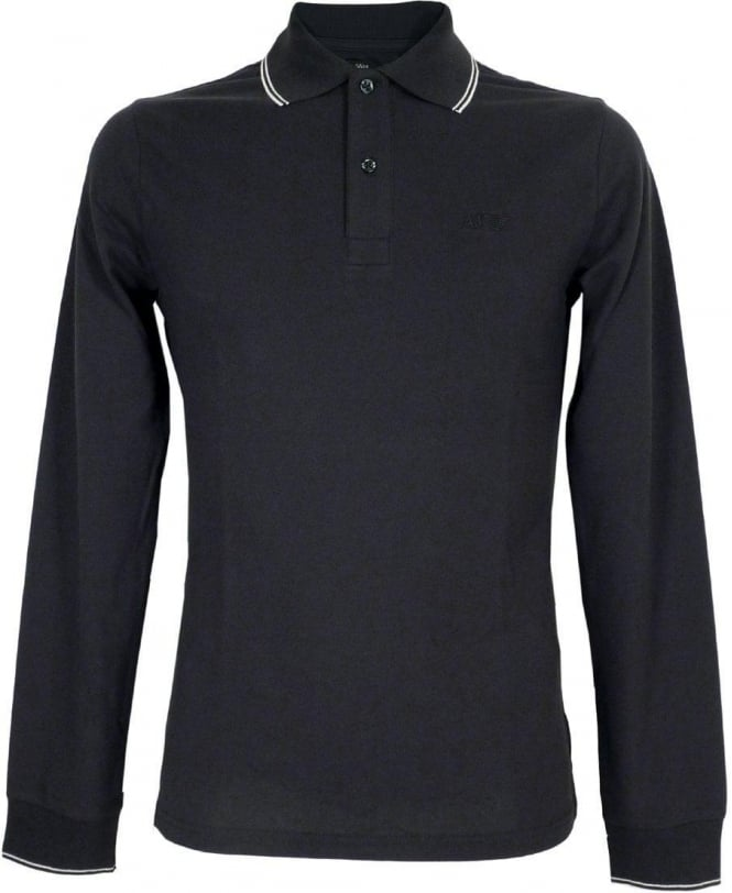 Armani Navy Long Sleeve 06M36BT Polo Shirt