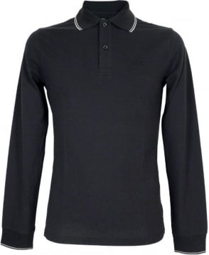 Armani Jeans Navy Long Sleeve 06M36BT Polo Shirt