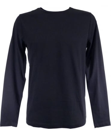 Hugo Boss Navy Long Sleeved Leo 80 T-Shirt