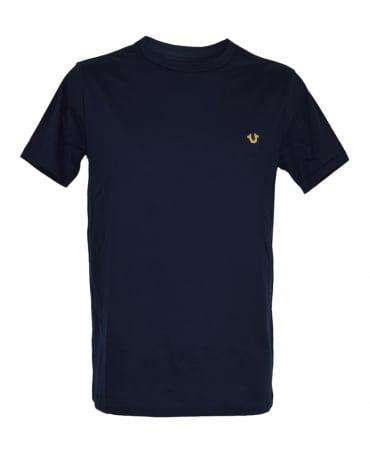 True Religion Navy M16UT90Y1G Crew Neck T-Shirt