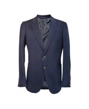 Armani Navy MCF02 Regular Fit Jacket